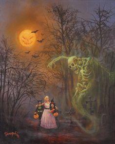Halloween Spook Painting