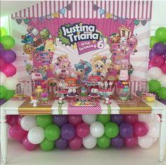 Shopkins Theme Birthday Party Dessert Table and Decor