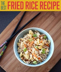 DIY Projects for the Home! The Best Fried Rice Recipe | http://diyready.com/the-best-fried-rice-recipe-how-to-make-fried-rice/