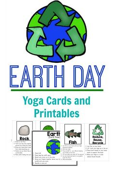 Earth day kids yoga pose cards and printables.  The perfect Earth Day activity!
