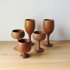 wooden goblets