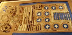 ca. 1600 BCE Minoan Game Board from Knossos; inlays of ivory, rock crystal, and glass paste on wood base covered in gold and silver leaf. Heraklion Museum.