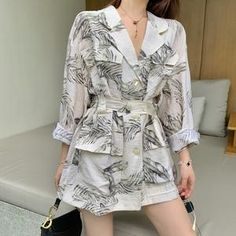 BLOUSE – Page 2 – orchidmet Stylish Summer Outfits, Stylish Work Outfits, Stylish Dress Designs, Fall Fashion Outfits, Stylish Dresses, Cute Fashion, Korean Girl Fashion, Korean Fashion Trends, Korean Street Fashion