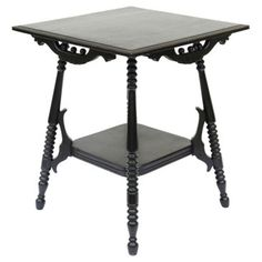 Check out this item at One Kings Lane! Black Ball & Stick Side Table
