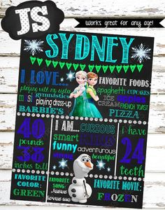 WELCOME to JS Custom Printables!    This listing is for a personalized birthday chalkboard sign. (DIGITAL FILE ONLY)    Your poster can be fully customized with your little one's details. These chalkboard signs make great photo props and add a personalized touch to your little one's birthday celebration!    Watermark / shop name will not appear on final image.    Please CAREFULLY read the points below before purchasing!    -ALL ITEMS in my shop are DIGITAL FILES ONLY.  - No physical…