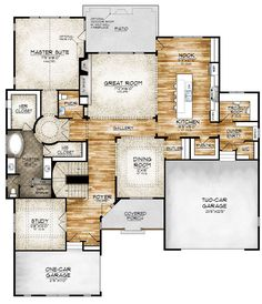 Sopris Homes - Paonia Model I like this plan but it doesn't link to the house plan anymore to see what the upstairs looks like or outside The Plan, How To Plan, Dream House Plans, House Floor Plans, My Dream Home, Dream Homes, Custom Home Builders, Custom Homes, Bonus Rooms
