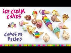 Ice Cream Cones in Polymer Clay Tutorial