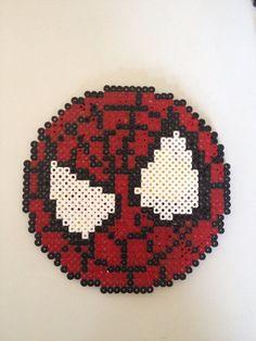 Spiderman Marvel perler beads by PlanetPixel on Etsy Hama Beads Design, Hama Beads Patterns, Beading Patterns, Perler Beads, Fuse Beads, Art Spiderman, Perler Coasters, Nerd Crafts, Crochet Cactus