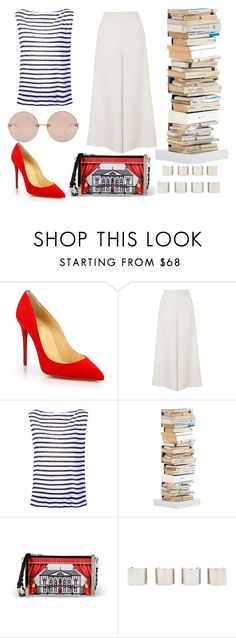 """I dream of you every night..."" by eleganceisawayoflife ❤ liked on Polyvore featuring Christian Louboutin, Topshop, T By Alexander Wang, Opinion Ciatti, Love Moschino, Luv Aj and Linda Farrow"