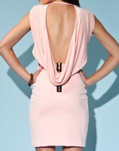 Hedonia Sleeveless Cowl Back Dress: Like the exposed zipper.