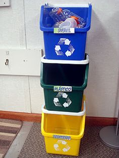 Every classroom should have its own Recycling Center