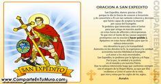 """ORACIÓN A SAN EXPEDITO PARA TODOS LOS DÍAS  ESCRIBE """"AMEN"""" Y COMPARTE A SAN EXPEDITO PATRONO DE LAS CAUSAS URGENTES: ABOGADO DE LAS CAUSAS IMPOSIBLES (un título que comparte con santa Rita y san Judas Tadeo)"""