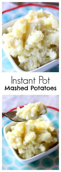 Instant Pot Mashed Potatoes–easy to make and quick to cook, creamy and buttery mashed potatoes made with a tangy Greek yogurt twist. #instantpot