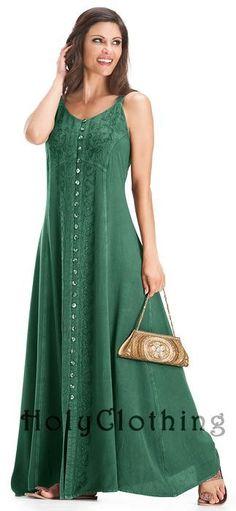 Shop Naveen Gypsy A Line Gothic Empire Waist Beach Maxi Sun Dress  In Green Jade: http://holyclothing.com/index.php/naveen-gypsy-a-line-gothic-empire-waist-beach-maxi-sun-dress.html. Repins are always appreciated :) #HolyClothing #fashion #gypsy #A line #empire waist #beach #maxi #long #sundress