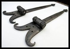 Hand Forged Strap Hinges Forged by Blacksmith Naz by NazForge
