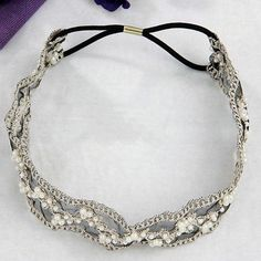 Love Vintage Lace Pearl Beads Wedding Bridal Hairband – Joy Of London Jewels