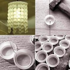 DIY : Bottle Cap Chandelier