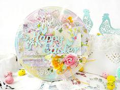 Easter altered hoop