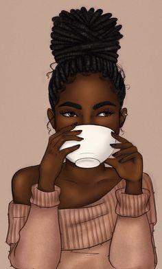 Art Black Love, Black Girl Art, Art Girl, Black Art Painting, Black Artwork, Art Afro Au Naturel, Drawings Of Black Girls, African American Fashion, Natural Hair Art