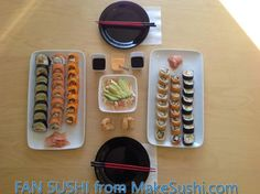 FAN SUSHI! Thank you @Cristina Lesser for sending this great sushi pic:)