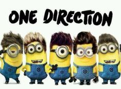 This combines two of the best things One Direction and Minions!!
