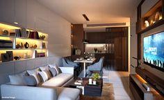 Living Room Type 2 Bed @ Urbitia ทองหล่อ ติดตามรีวิวได้ที่ http://www.infinitydesign.in.th/?p=56289