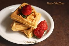 Sankeerthanam: Basic Waffles | How To Make Fluffy Waffles