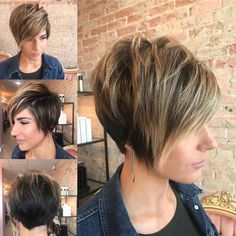 pixie haircut for round faces;pixie haircut for thick hair;pixie haircut for long hair;pixie haircut for black women;hairstyles for pixie hair; Pixie Haircut For Thick Hair, Longer Pixie Haircut, Long Pixie Hairstyles, Short Pixie Haircuts, Pixie Bob, Haircuts With Bangs, Straight Hairstyles, Medium Hairstyles, Braided Hairstyles