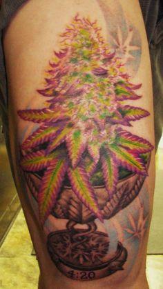 Cannabis cup with purple kush #marijuana #marijuanatattoos http://budposters.com/