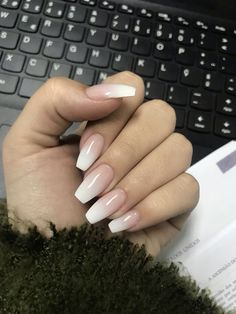 20 + French fade with bare and white ombre acrylic nails coffin nails . - 20 + French fade with bare and white ombre acrylic nails coffin nails – page 21 … – # Acrylic - Cute Gel Nails, Cute Acrylic Nails, Acrylic Nail Designs, French Acrylic Nails, Acrillic Nails, Acrylic Nails Autumn, Natural Acrylic Nails, Long Gel Nails, Coffin Nails Ombre