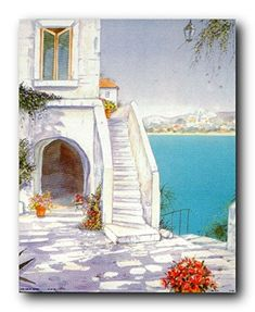 Get ready to adorn your living space with this charming scenic poster will bring a beautiful charm and help to bring a unique character to any place in your home or office. This Mediterranean views seascape art print poster transforms the entire look of your home. You'll love this poster hanged in your living room or lobby area. Everyone would compliment you for your wonderful taste in home accessories. This seascape poster will reflect your passion for nature and travel.