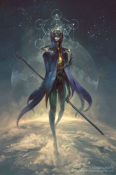 Eistibus, Angel of Divination, Peter Mohrbacher on ArtStation at https://www.artstation.com/artwork/eistibus-angel-of-divination