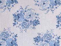 Stoff Tildastoff Rosenstoff blau weiß Patchworksto
