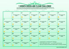 Join up 1 Month Green and Clean Slimmables Challenge!