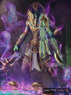 Mitología egipcia... Osiris también tiene una versión oscura como Dios Cruel y BelicosoGuía Militar de los Ejércitos de los Muertos.