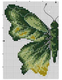 Kreuzstich - Borboleta Verde