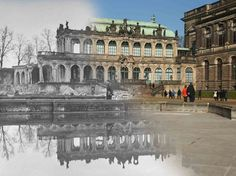 composite images show the wwii ruin of german historic photo altmarkt square historic dresden germany today photo altmarkt square walking and drinking