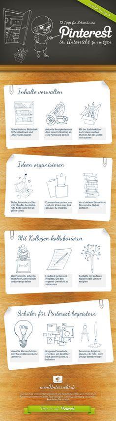 Die Infografik erklärt, wie Lehrer Pinterest für den Unterricht nutzen können!