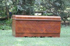 For Debora - Cedar Lane Waterfall Chest With Inside Felt Lined Tray 1942 Wwii…