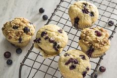 Almond Breeze almondmilk and Blue Diamond® honey roasted almonds abound in this classic blueberry muffin recipe that includes an optional but scrumptious streusel. Almond Milk Recipes, Fruit Recipes, Muffin Recipes, Baking Recipes, Homemade Blueberry Muffins, Blueberry Oatmeal Muffins, Blue Berry Muffins, Honey Roasted Almonds, Almond Breeze
