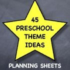 """Planning sheets to accompany """"A Year's Worth of Preschool Theme Ideas"""" posters also available (free) in my store.    See also my """"daily style"""" plan..."""