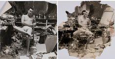 John Deakin's photograph of George Dyer in the Reece Mews Studio, ca. 1964, Dublin City Gallery The Hugh Lane