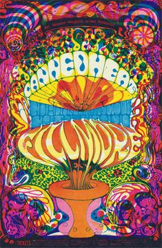 Classic rock concert psychedelic poster - Canned Heat Fillmore Poster