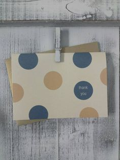 Thank You Notes / Confetti Dot / Wedding Thank You Cards / Navy and Gold
