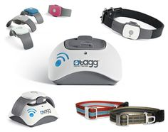 "Tagg Pet Tracker - a new wireless pet tracking device that uses GPS to pinpoint your dog's location anywhere. the Tagg system notifies you immediately (via text or email) if your dog strays from a set zone (or ""geofence"")"