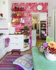 Boheemi keittiö. Bohemian kitchen.   Unelmien Talo&Koti Kuvaaja jaa toimittaja: Camilla Hynynen
