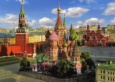 red square in Russia...doesn't even look real
