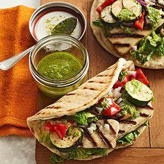 Pesto Veggie Gyro... These look delicious!