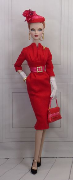 Fine Miniature Couture for Dolls Doll Clothes Barbie, Barbie Dolls, Barbie Stuff, Dolls Dolls, 1950s Fashion, Fashion Dolls, Barbie Wardrobe, Black Barbie, Barbie Collection