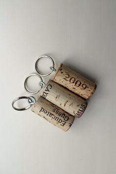 Keychains Wine Cork Keychains Natural Wine Corks #winelover